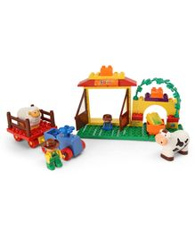 Sluban Happy Farm Building Blocks Game Set Multicolor - 34 Pieces