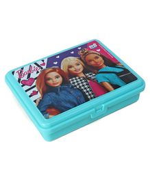 Barbie Lunch Box With 3 Compartments - Aqua Blue