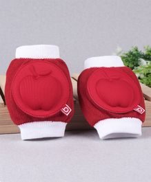 Babyhug Elbow & Knee Protection Pads Apple Design - White and Red