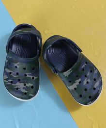 KIDLINGSS Camouflage Print Clogs - Blue