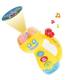 Kiddale Baby Flashlight Projector Torch - Yellow