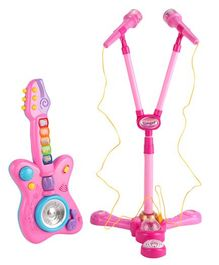 Kiddale Kids Electric Guitar with Microphone And Light - Pink