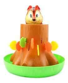 Kiddale Jumping Squirrel Fun Activity Toy - Green Brown