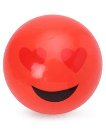 PVC Ball Smiley Emoji  Print - Red (color& print may vary)