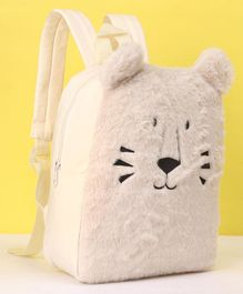 Fox Baby Plush Backpack Cat Design White Off White - 11 Inches