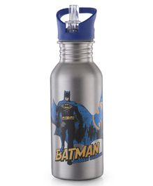 DC Comics Batman Stainless Steel Insulated Sipper Bottle Grey - 500 ml