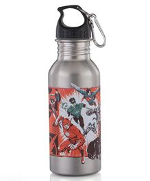 Justice League Stainless Steel Insulated Water Bottle Grey - 500 ml