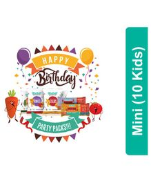 Timios Mini Birthday Snack Party Pack Pack of 10 - Multicolor