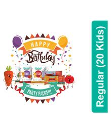 timios Regular Birthday Party Snacks Pack of 20 - Multicolor
