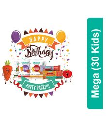 timios Mega Birthday Party Snacks Pack of 30 - Multicolor