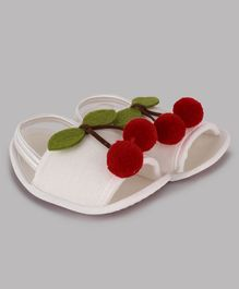 Daizy Cherry Decorated Booties - Red