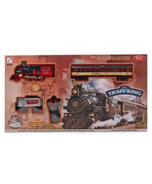 Remote Controlled Train And Track Set Black Red - 19 Pieces
