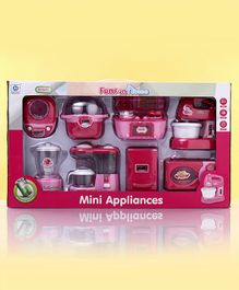 Children Mini Appliances Set of 8 -  White Pink