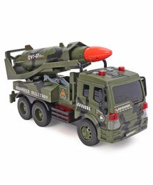 Remote Control Die Cast Toy Truck - Olive Green