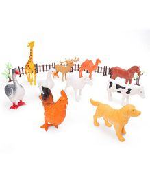 Farm Animals Set of 18 - Multicolor