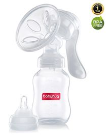 Babyhug Manual Breast pump With 2 Suction Modes - White