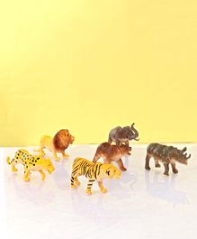Forest Animal Figures Pack of 6 - Multicolor