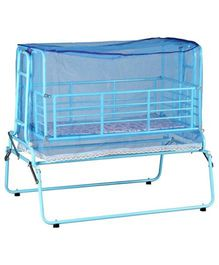 Genuine Industries Cradle With Mosquito Net - Blue