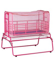 Genuine Industries Cradle With Mosquito Net - Pink