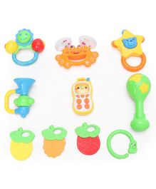 Musical Rattle Set Of 10 - Multicolor
