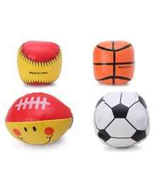 Soft Sports Ball Pack of 4 - Multicolour