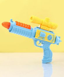 Flash Gun Toy With Lights & Music Blue - Length 24 cm