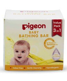 pigeon Baby Bathing Bar Pack of 3 - Yellow