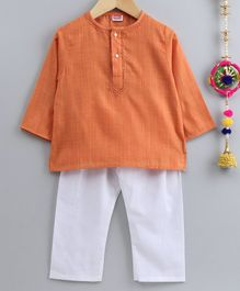 Babyhug Full Sleeves Kurta & Pajama Set - Orange