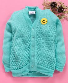 Little Angels Full Sleeves Sweater Diamond Design - Aqua