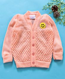 Little Angels Full Sleeves Sweater Diamond Design - Pink