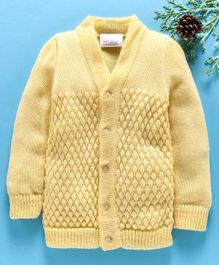 Little Angels Full Sleeves Sweater Diamond Design - Yellow