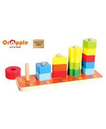 Orapple by R for Rabbit 3 in 1 Wooden Stacking Tower - Multicolor