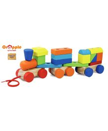 Orapple by R for Rabbit Multi Functional Train Block Set - Multicolour
