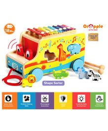 Orapple by R for Rabbit Musical Safari Bus Pull Along - Multicolor