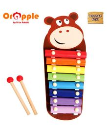 Orapple by R For Rabbit Tin Tin Musical Wooden Xylophone Bear - Brown