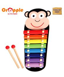 Orapple by R for Rabbit Tin Tin Wooden Xylophone Monkey Shape - Multicolour