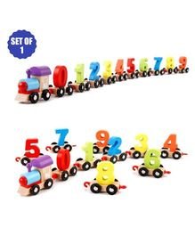 Party Propz Wooden Train Toy - Multicolor