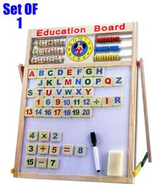 Party Propz Magnetic Learning Board With Educational Learning Pieces - Multicolour