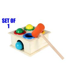 Party Propz Wooden Hammer Case Toy for Kids - Multicolor
