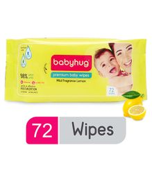 Babyhug Premium Baby Lemon Wipes - 72 Pieces