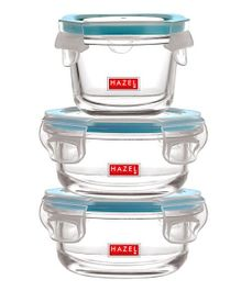 Hazel Leak Proof Containers Pack of 3 - Transparent