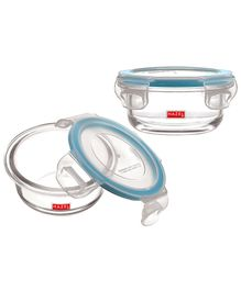 Hazel Leak Proof Containers Pack of 2 - White Blue