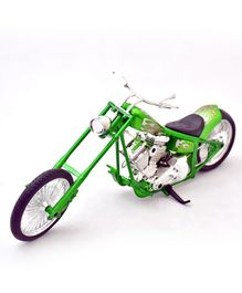 New Ray  Die Cast Custom Toy Bike - Green