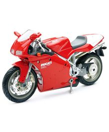 New Ray Die Cast Toy Bike Ducati 998S - Red
