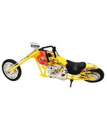 New Ray Die Cast Custom Bike - Yellow