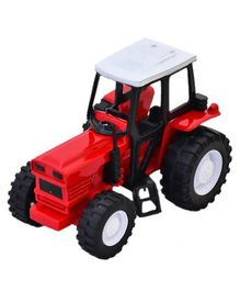 New Ray Farm Tractor Die Cast Model - Red Black
