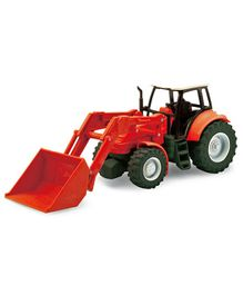 New Ray Die Cast Free Wheel Tractor Toy - Red