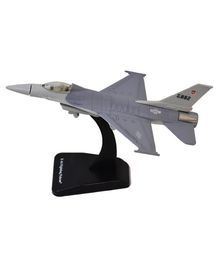 New Ray F - 16 Fighting Falcon Fighter Plane With Plastic Stand - Grey