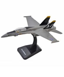 New Ray McDonnell Douglas F/A-18 Hornet Fighter Plane With Plastic Stand - Grey