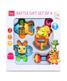 Morisons Baby Dreams Rattle Gift Set Pack of 4 - Multicolour